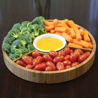 Gourmet Bamboo 2-Piece Serving Tray