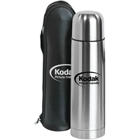 Clayton - 33 oz/1 Liter Bullet Stainless Steel Vacuum Bottle