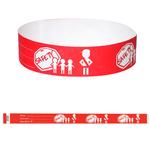 """Child Safety Preprinted Tyvek 3/4"""" Wristband"""