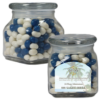 Small Glass Apothecary Jar with Corporate Jelly Beans Candy
