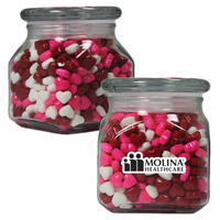 Small Glass Apothecary Jar with Candy Hearts