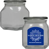 Medium Glass Apothecary Jar Empty