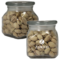 Medium Glass Apothecary Jar with Pistachio Nuts