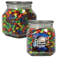 Medium Glass Apothecary Candy Jar with Chocolate Littles