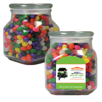 Large Glass Apothecary Candy Jar with Jelly Beans Candy