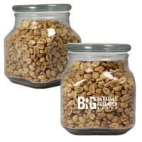 Large Glass Apothecary Jar with Peanuts