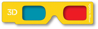 3D Glasses - Hand Held- Red/Cyan Lenses - Custom Imprint