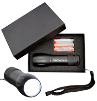Wide Body 9 Light LED Torch Flashlight