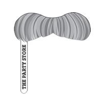 Digital Printed One Piece Paper Stick Mustache
