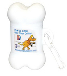 Bone-Shaped Pet Waste Bag Dispenser - Full Color Sticker