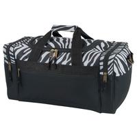 Poly Zebra Print Duffel Bag