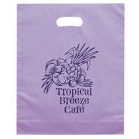 Orchid Frosted Brite Die Cut Bag