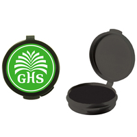 Black Empty Plastic Pill Box or Pillbox Case