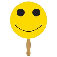 Smiley Face Hand Fan