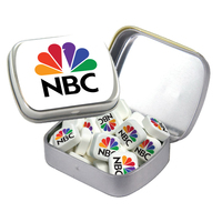 Small Hinged Tin with Printed Mints - Breath Fresheners
