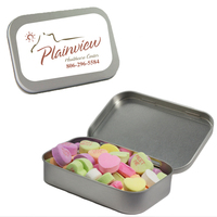 Candy Tin with Conversation Hearts - Valentines Day