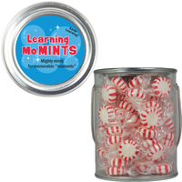 Clear Plastic Paint Can Pail with Starlite Breath Mints