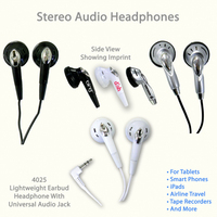 Audio Stereo Headphones, #4025 and variety