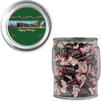 Clear Plastic Paint Can Pail with Tootsie Rolls Chocolate