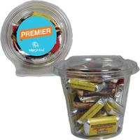 Round Safe-T Fresh Container W/ Hershey Mini Candy Bars