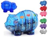 4 Compartment Pig Piggy Bank
