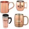 solid copper mug, copper plated mug, copper drinkware