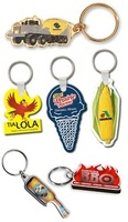 die cut, custom shaped, keychains, key chains, key tags, key fobs, key ring, keyring, promotional, l
