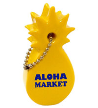 keyfloats, key floats, floating keychain, key chain, pineapple, pine apple