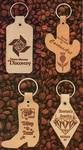 Custom Shaped Branded Leather Keytag