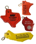 State Shaped Floating Key Chain