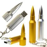 Rifle Bullet Shaped Memory Stick / USB Flash Drive