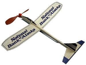 Balsa Motorplane Airplane 12 Inch Wing Item 50 1