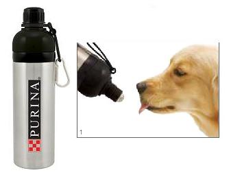 Stainless Steel Water Bottle with Canine Roller Ball Flow