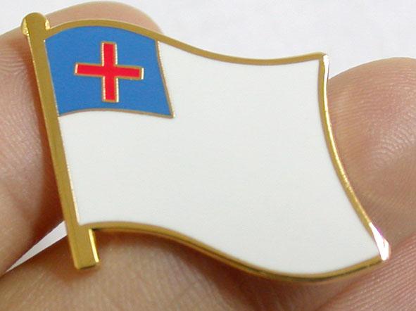 Charming ... Christian Flag, Cross, Evangelical Flag, Cross, Religious, Church,  Enamel,