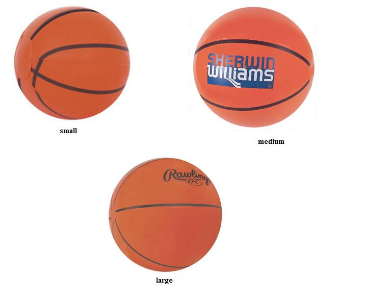 Inflatable Basketball Shaped Beachballs - ImprintItems.com Custom ...