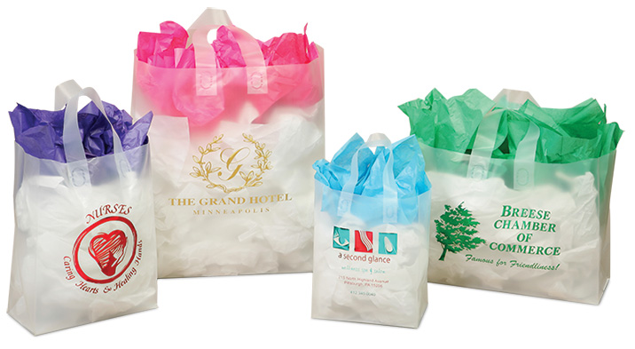 Clear Frosted Shopping Bags - ImprintItems.com Custom ...