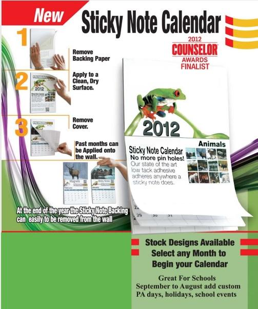 Weekly Calendar Sticky Notes : Wildlife sticky back calendar imprintitems custom