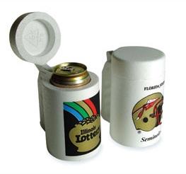 Styrofoam Can Cooler Stein W Lid Item Cc240