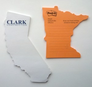 State Shaped - X-Large - Die Cut Post it Note Pads