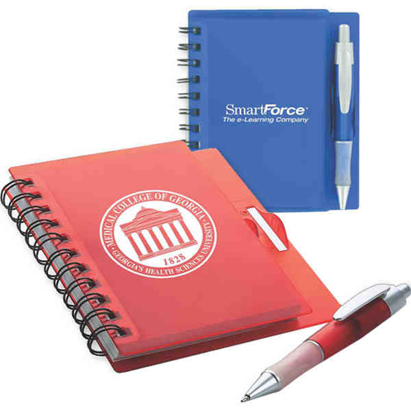Item #DP-419 Spiral notebook with pen.