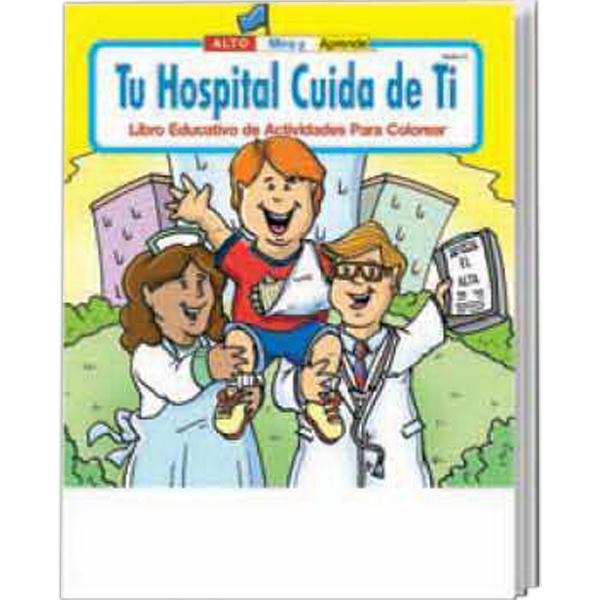Item #1435 Your Hospital Cares About You Spanish Coloring Activity Book