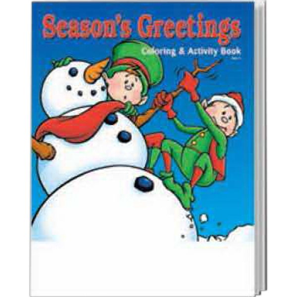 Item #0535FP Season's Greetings Coloring and Activity Book Fun Pack