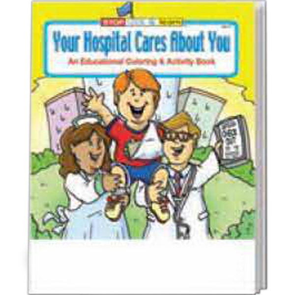 Item #0390FP Your Hospital Cares About You Coloring Book Fun Pack