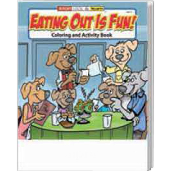 Item #0579 Eating Out Is Fun Coloring and Activity Book