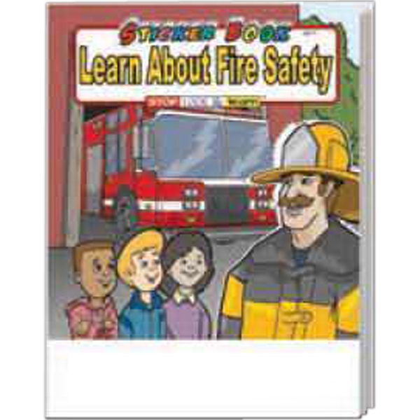 Item #1025FP Learn About Fire Safety Sticker Book Fun Pack