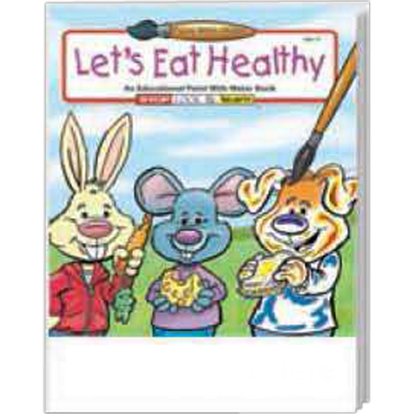 Item #1835 Let's Eat Healthy Paint With Water Book