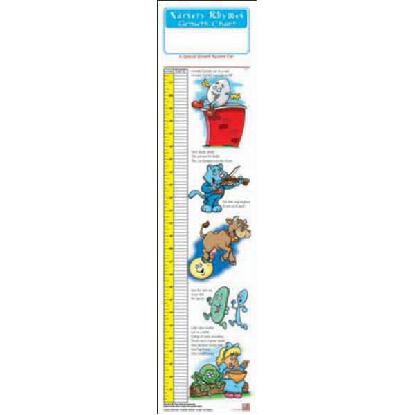 Item #0050 Nursery Rhymes Growth Chart