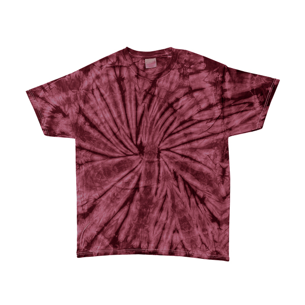 Tie dye adult spider tie dyed tee item hs1000 for Custom tie dye shirts no minimum