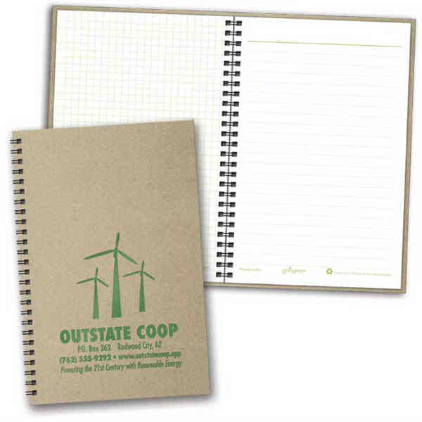 Item #8253 goingreen - Eco-friendly notebook made from recycled material