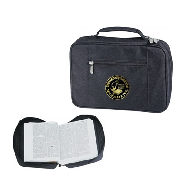 Item #B-8112 Poly Multi-Pocket Zippered Bible Book Cover